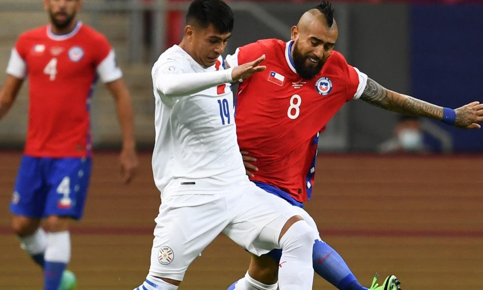 Chile vs. Paraguay por Copa América 2021. Foto: AFP