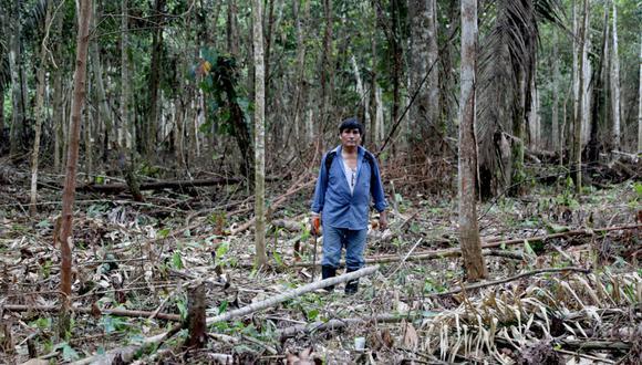 El vicepresidente del Comité de Gestión de Tambopata, Demetrio Pacheco, lleva meses denunciando la vulnerabilidad de los habitantes que viven en el cinturón de la Reserva Nacional Tambopata. Foto: Diego Pérez / SPDA