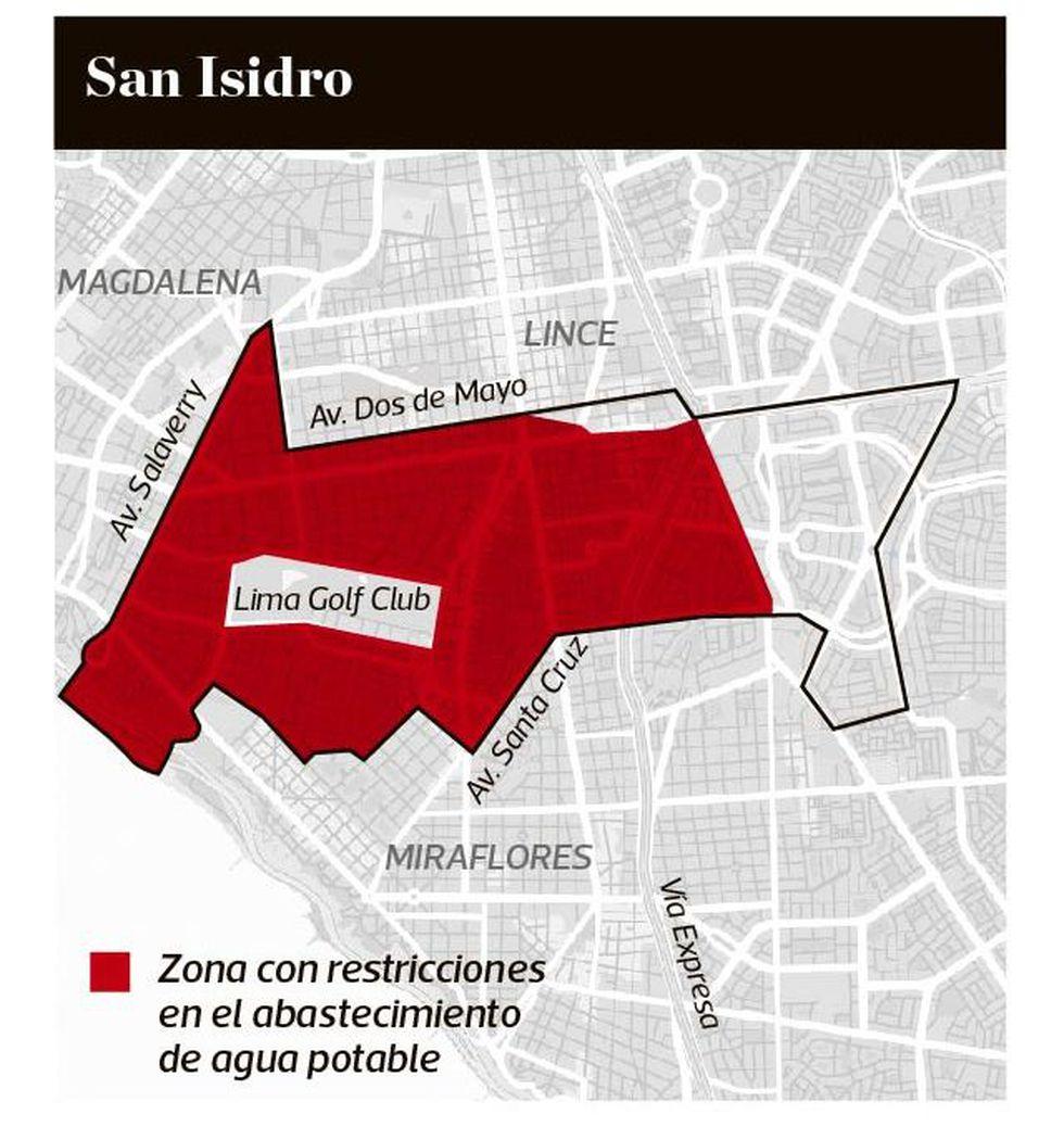 Corte de agua en San Isidro