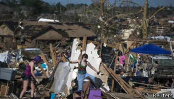 En mayo de 2013, un tornado arrasó los suburbios de Oklahoma City. (BBC Mundo)