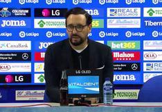 """José Bordalás: """"Sabemos convivir con el estrés de la competición"""""""