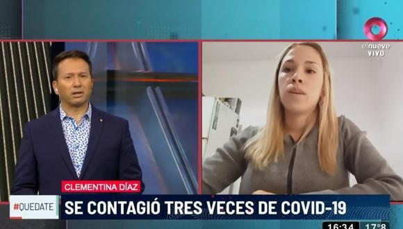 Clementina Díaz se contagió tres veces de COVID-19 en 14 meses y contó a diversos medios de comunicación cómo fue el complicado proceso de recuperación. (Foto: El Nueve Argentina / YouTube)