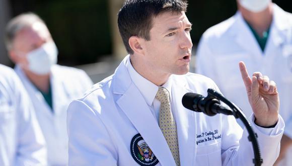 Sean Conley, médico del presidente Donald Trump. (Foto: Brendan Smialowski / AFP).
