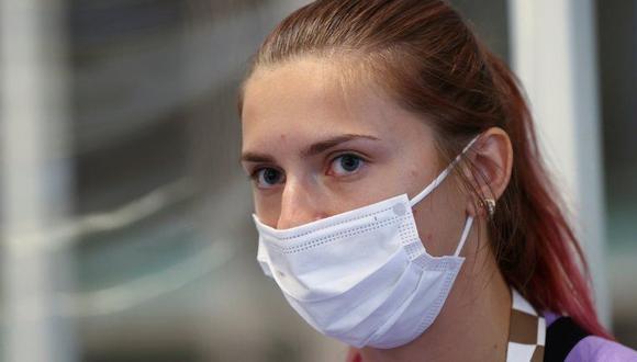 Krystina Timanovskaya dice que la llevaron a la fuerza al aeropuerto el domingo por criticar a los entrenadores. (Reuters).