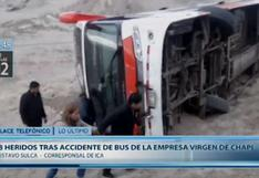 Ica: al menos 13 heridos deja despiste de bus en Marcona   VIDEO