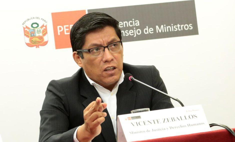 Vicente Zeballos cuestionó que el Congreso no haya acudido a la Comisión de Venecia en cuestiones de confianza planteadas antes por el Gobierno. (Foto: GEC)