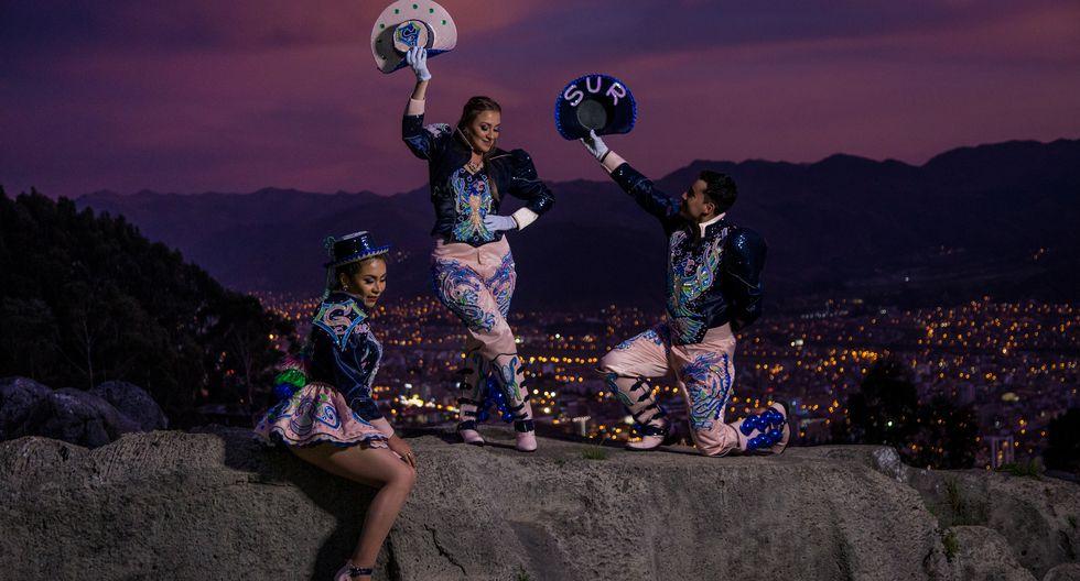 Los bailarines Alexa Pacheco, Anny Vargas e Irving Camacho.