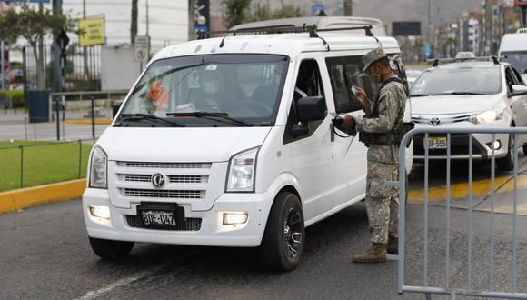 El Gobierno oficializó este miércoles el retorno de la cuarentena total en Áncash, Pasco, Huánuco, Junín, Huancavelica, Ica, Apurímac, Lima Provincia, Lima Metropolitana y Callao.  (Foto: César Bueno/ GEC)