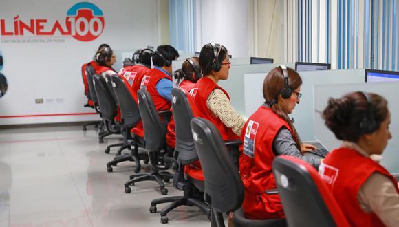 Un total de 27 mil 997 llamadas telefónicas a recibido la Línea 100. (Foto: MIMP)