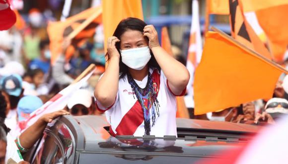 Keiko Fujimori cumple actividades proselitistas en la región Loreto. (Foto: Alessandro Currarino / @photo.gec)