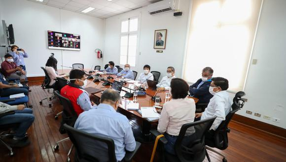 Reunión virtual del Consejo Nacional de Trabajo este sábado  de abril. (Foto: Twitter/ Ministerio de Trabajo)