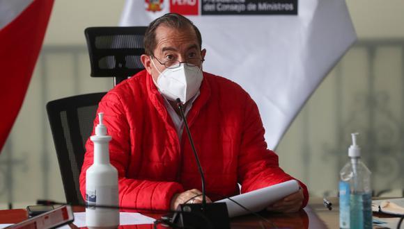 El primer ministro, Walter Martos, consideró que el Congreso está abusando de su facultad de interpelar a ministros de Estado. (Foto: PCM)