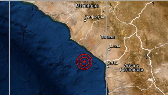 De acuerdo con el IGP, el epicentro de este movimiento telúrico se ubicó a 35 kilómetros al sur del distrito de Locumba. (IGP)