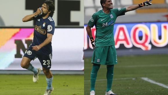 Cazulo y Butrón han sido los referentes de Sporting Cristal y Alianza Lima, respectivamente, en las últimas temporadas. El 2020 puso el fin a la carrera de ambos. (Foto: El Comercio)