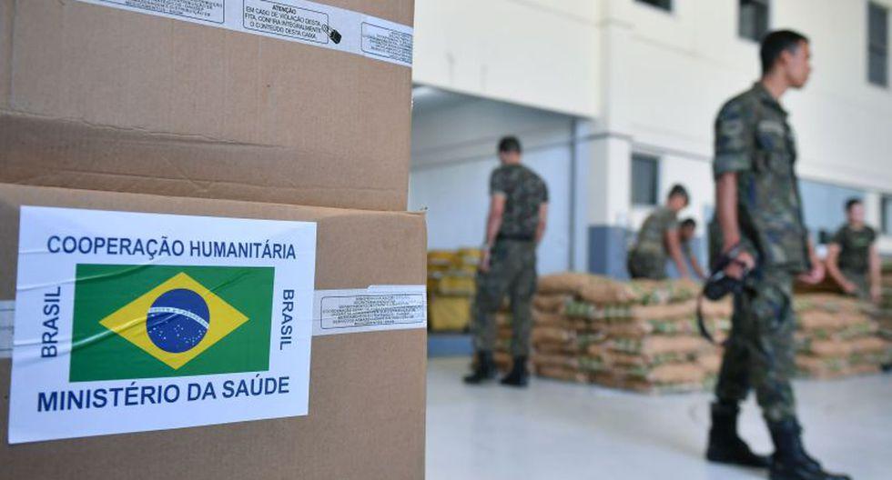 La ayuda humanitaria en Brasil parte hacia la frontera con Venezuela. (Foto: AFP)