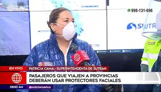 """Sutran presentó plan """"Viaje seguro"""" para la reactivación del transporte interprovincial"""