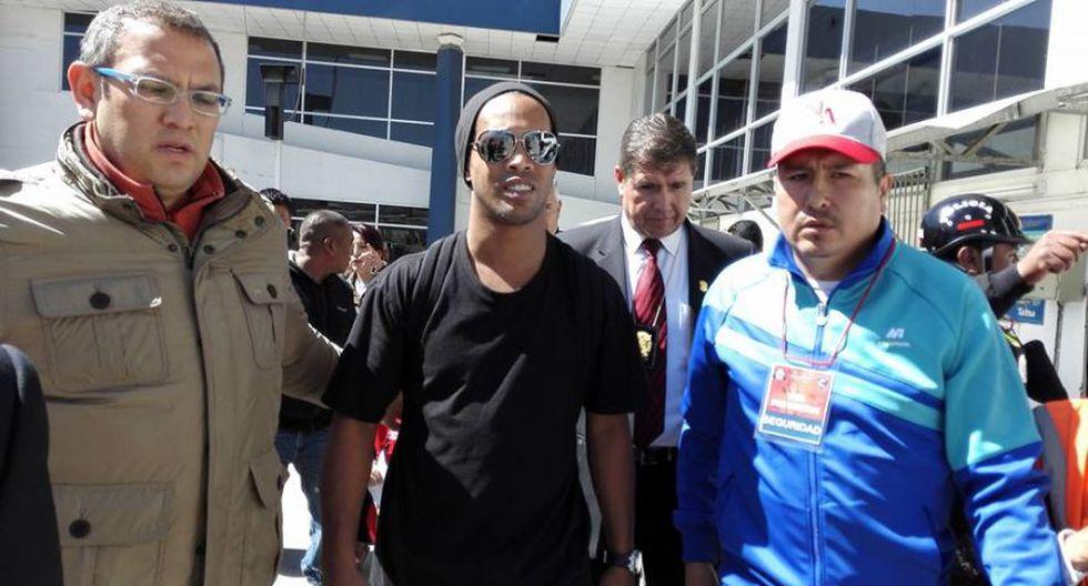 Ronaldinho llegó a Cusco en medio de gran expectativa [FOTOS] - 3