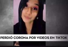 Miss Perú Junín perdió la corona por publicaciones en TikTok