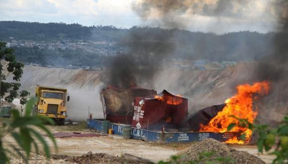 Puno: 4 detenidos en intervención a campamento minero ilegal