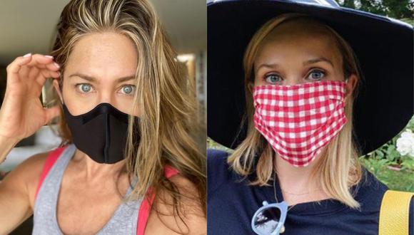 Jennifer Aniston, Reese Whiterspoon y otras estrellas piden a sus fans que usen responsablemente las mascarillas. (Foto: Instagram)