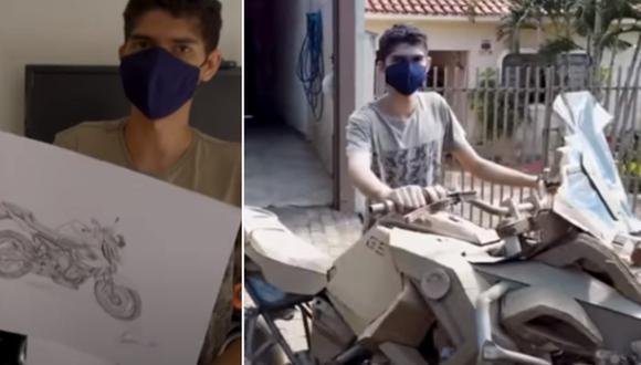 El joven es apasionado de las motocicletas desde que tenía 15 años de edad. Ahora muestra su talento al mundo. (Foto: Ruptly / YouTube)