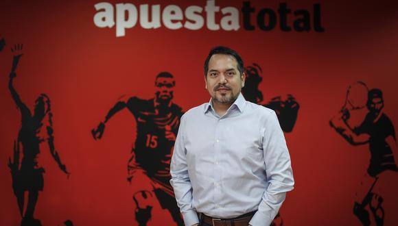 Gonzalo Pérez, CEO de Apuesta Total, es optimista este año por eventos deportivos como las Elminatorias para Qatar 2022, Tokio 2020, Liga1 y Liga2. (Foto: Hugo Pérez)