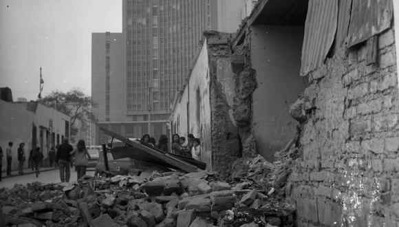 El terremoto de 7,5 grados en la escala de Richter tuvo como epicentro la provincia limeña de Cañete y tuvo una duración de dos minutos y 15 segundos.(Archivo El Comercio)