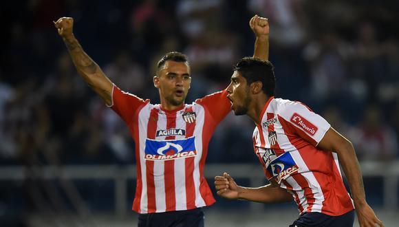 Alianza Lima no pudo sumar en su visita a Junior de Barranquilla por el Grupo 8 de la competición. Luis Carlos Ruíz marcó el único gol del partido. (Foto: AFP)