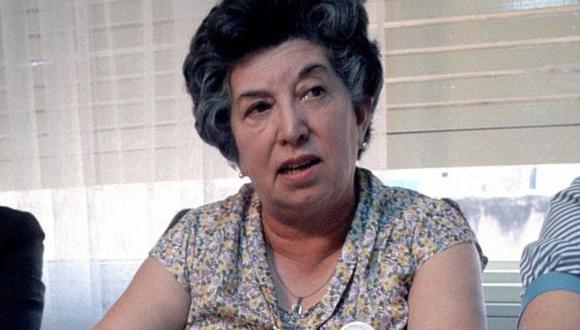 """María """"Chicha"""" Mariani, aquí en una imagen de 1984, confió siempre en lograr avances en la búsqueda de su nieta. (Foto: Getty Images)"""