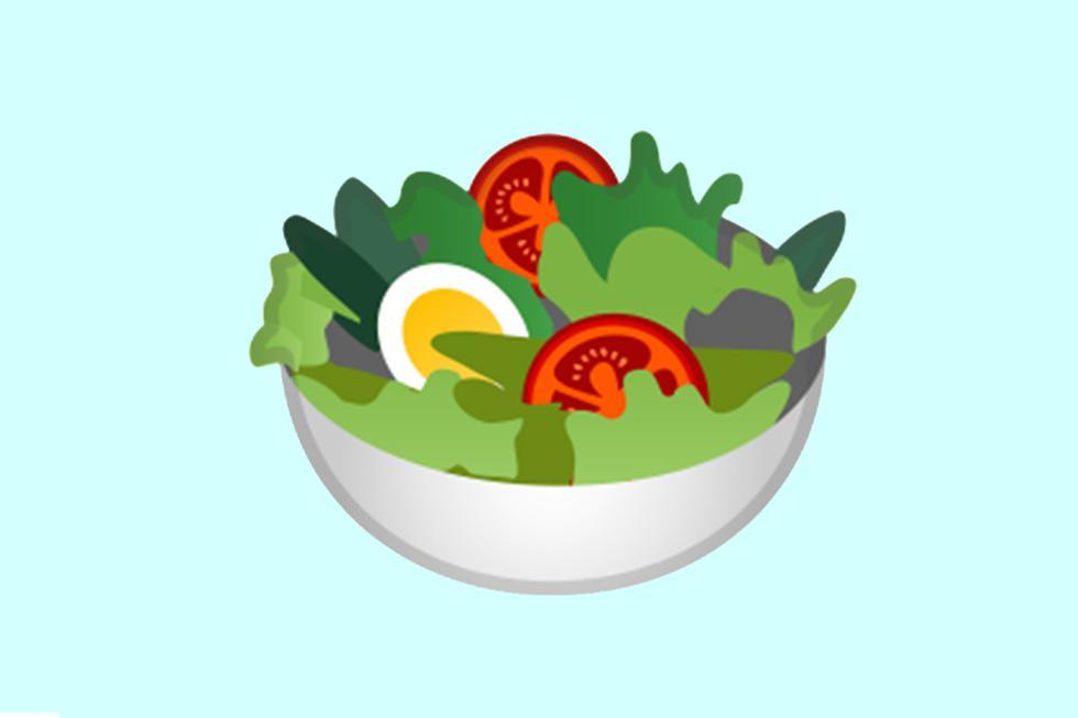 ¿Sabes por qué Google eliminó el huevo del emoji de la ensalada de WhatsApp? Esta es su explicación. (Foto: Emojipedia)