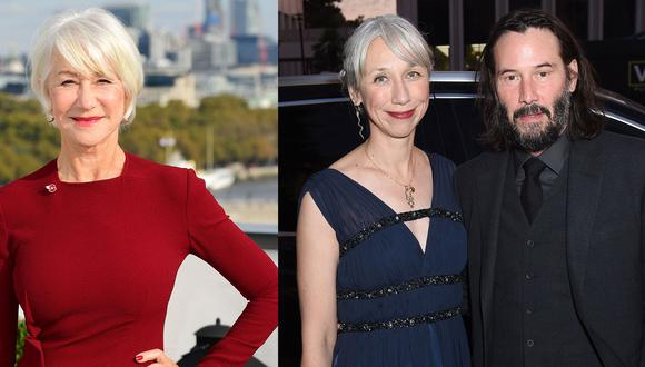 En twitter confunden a Helen Mirren con Alexandra Grant, la novia de Keanu Reeves