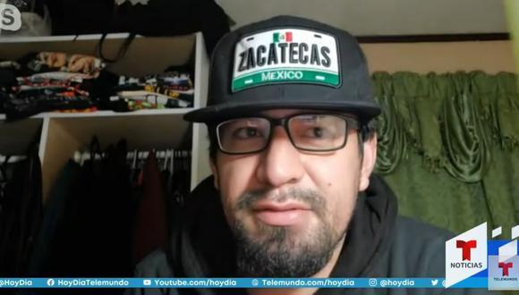 Andy Arellano logró escapar al tiroteo de Colorado (Estados Unidos), que dejó 10 muertos. (Captura de pantalla/Telemundo).