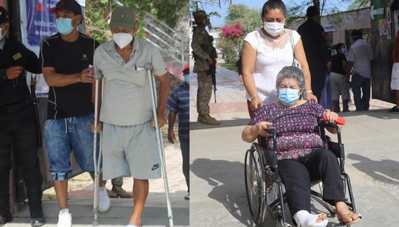 Pese a los inconvenientes, los adultos mayores lograron sufragar. (Fotos GEC)