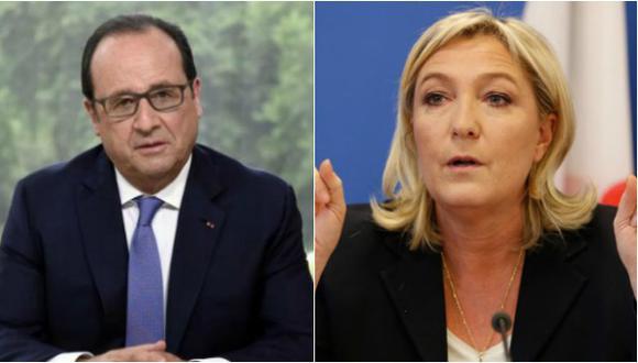 """Hollande advierte: Marine Le Pen sería """"un riesgo"""" para Francia"""