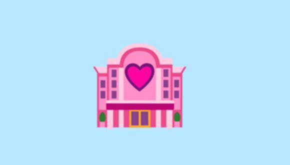 ¿Sabes realmente qué es el emoji del hotel con corazón? Conoce para qué está en WhatsApp. (Foto: Emojipedia)