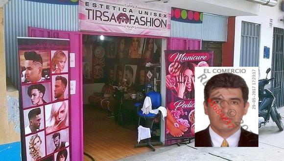 El lunes, Fernando Ruiz ingresó a esta peluquería en Tarapoto con un balde de gasolina. Le prendió fuego a su ex pareja y dejó grave a la dueña del local. (Foto: Hugo Anteparra / Reniec)