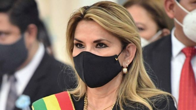 Jeanine Áñez, expresidenta de Bolivia, debió enfrentar la crisis del coronavirus (ABI).