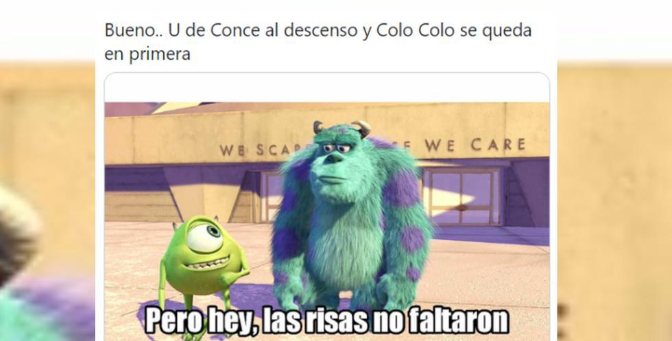 Colo Colo venció a la U de Concepción quedándose en primera división y usuarios no dudaron en viralizar memes en redes sociales.