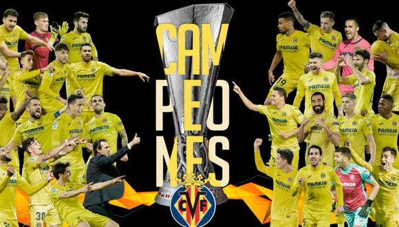Villarreal de España es el nuevo campeón de la Europa League | Imagen: @VillarrealCF