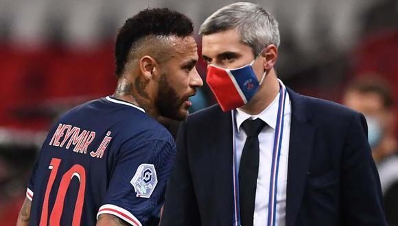 Neymar puede recibir una fuerte sanción por golpear a Álvaro Gonzalez. (Foto: AFP)