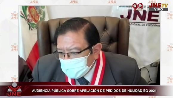 Jorge Luis Salas Arenas señaló que se deberá respetar la decisión del JNE sobre nulidades de Fuerza Popular.