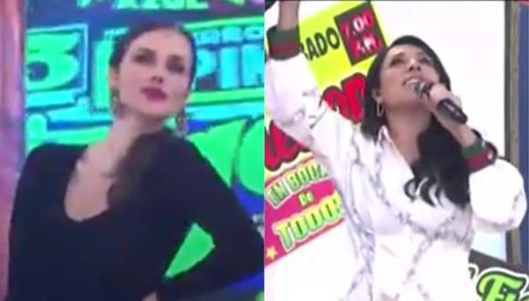 """Maju Mantilla bailó al ritmo de la canción """"Chofercito carretero"""" de Los Shapis. (Foto: Captura América TV)."""
