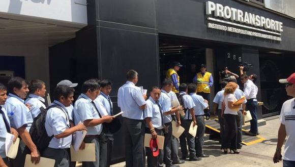 Pro transporte recibió CV de choferes de consorcios anulados
