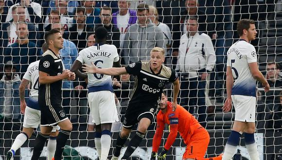 Ajax venció 1-0 al Tottenham y definirá semifinales de la Champions League en Holanda. (Foto: AFP)