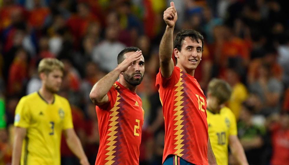 España vs. Suecia: mejores imágenes del partido. (Foto: AFP)