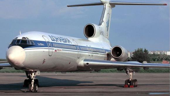 El avión utilizado fue un Tupolev Tu-154, un trimotor de medio alcance similar al de esta imagen.