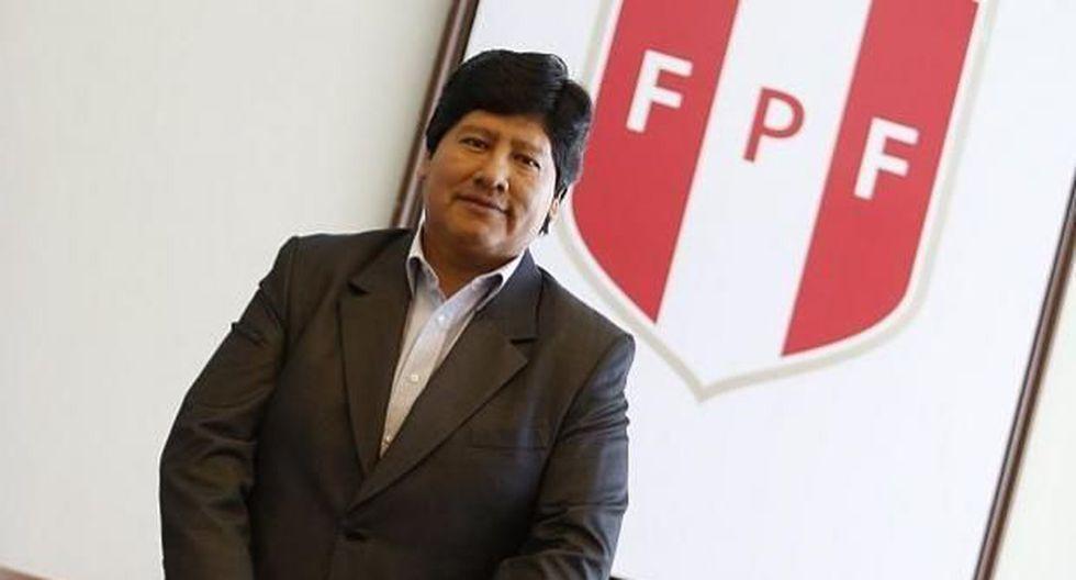 Edwin Oviedo, presidente FPF, asegura que ser sede del Mundial Sub 17 nos dejará un legado de infraestructura. (Foto: USI).
