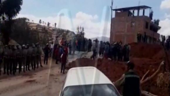 Apurímac: enfrentamiento entre policías y comuneros en corredor minero deja un herido | VIDEO