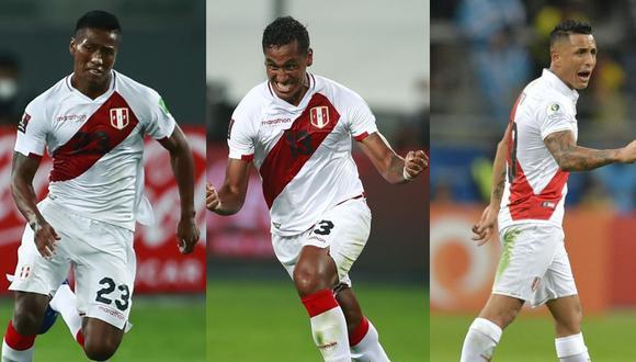 Aquino, Tapia y Yotún conforman el nuevo tridente en la volante de la selección peruana. La fórmula utilizada en Asunción y Lima podría volver en Santiago en noviembre. (Foto: AFP)