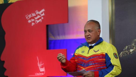"""El pasado 9 de julio, Diosdado Cabello confirmó que se había contagiado con el coronavirus. Reconoció que vivió momentos difíciles y que a partir del 28 de julio empezó a mejorar. Ha perdido 15 kilos de peso. (Foto: """"Con el mazo dando"""", vía Twitter)."""